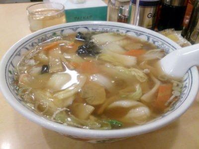 中国ラーメン 華風伝@妙典の「五目あんかけ麺」